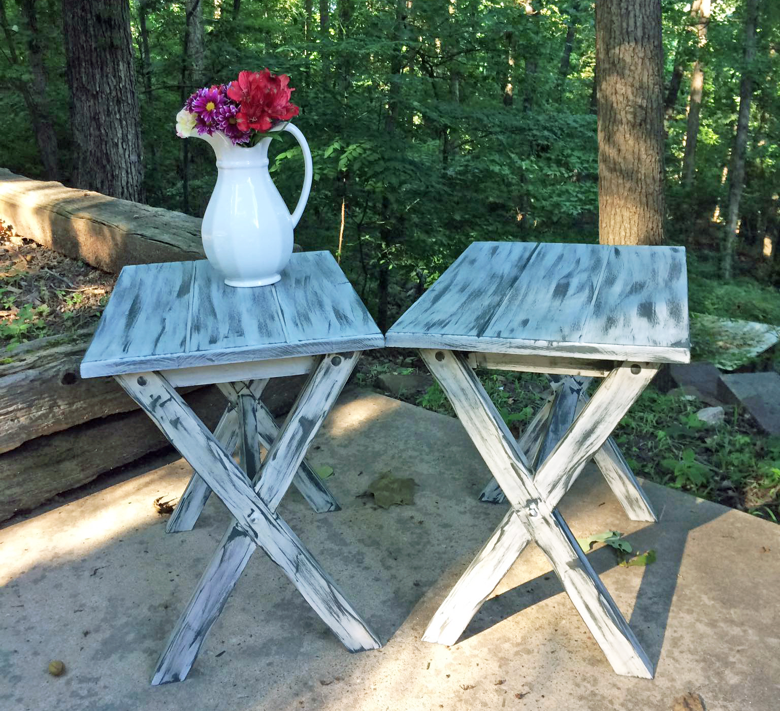 Chalk Style Paint Rustic Side Tables General Finishes Design Center