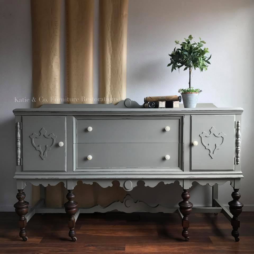 Buffet in Empire Gray Chalk Style Paint
