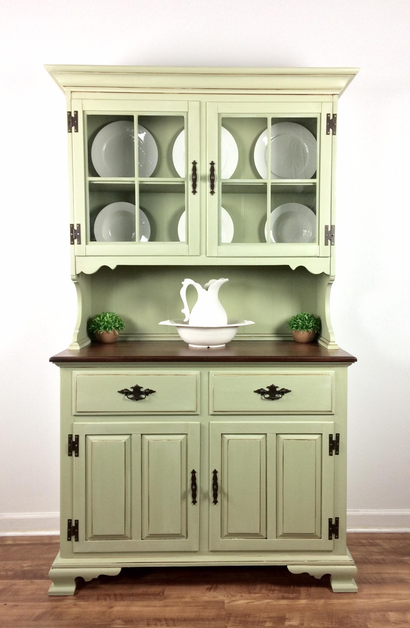 Chalk Painted Kitchen Hutch