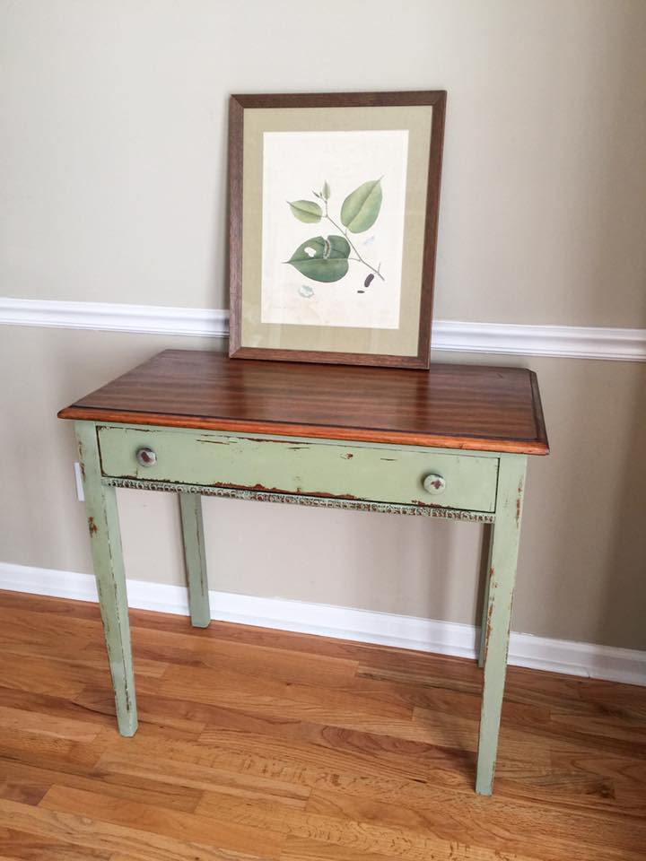 Table In Nantucket Green Chalk Style Paint General
