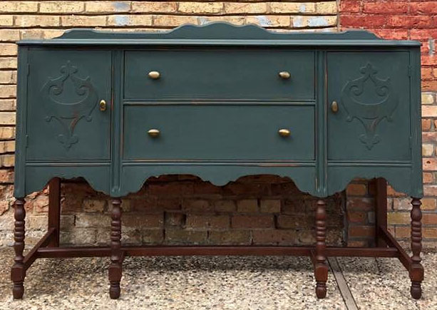 Buffet In Subtle Green General Finishes Design Center