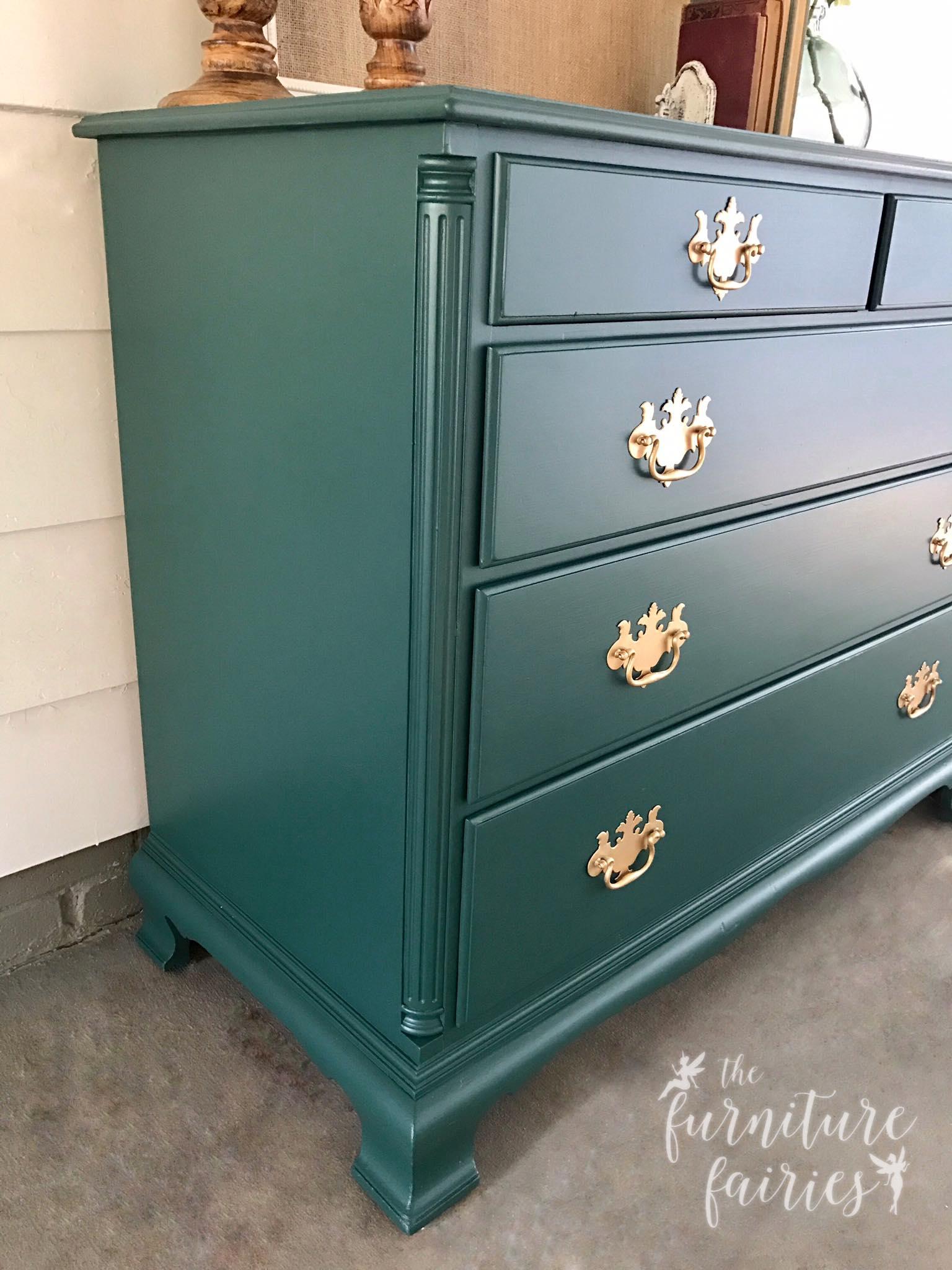 dresser in custom color mix of coastal blue emerald general finishes design center. Black Bedroom Furniture Sets. Home Design Ideas