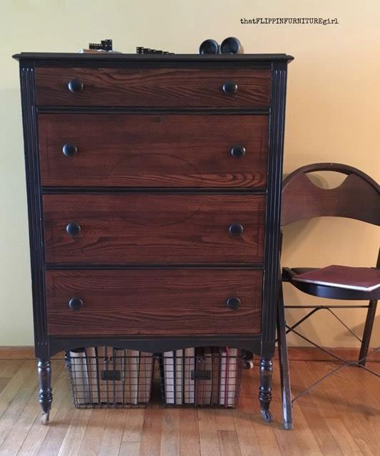 Custom Gel Stain Colored Dresser General Finishes Design