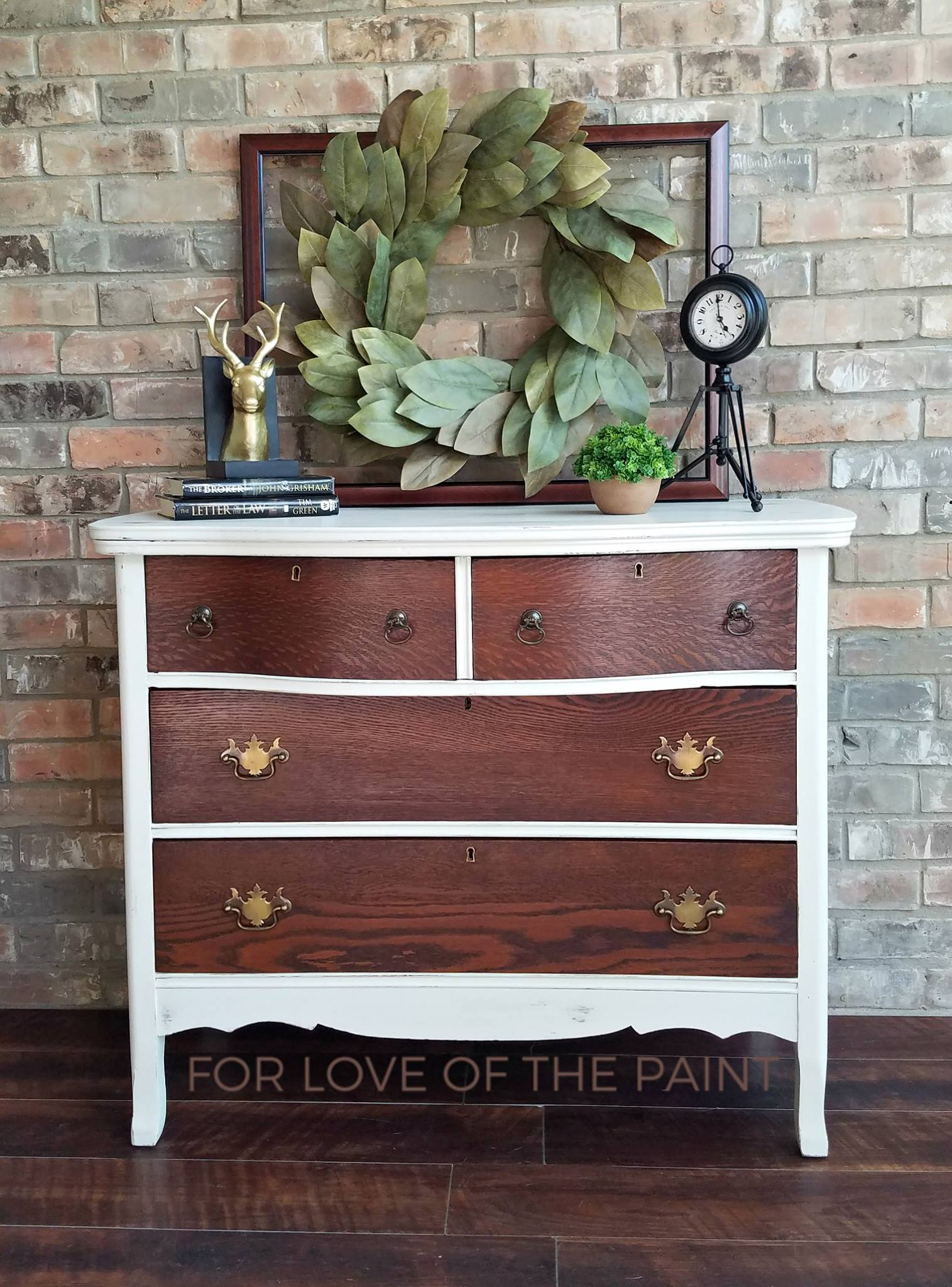 Vintage Chest In Medium Brown Dye Stain Amp Milk Paint Chalk
