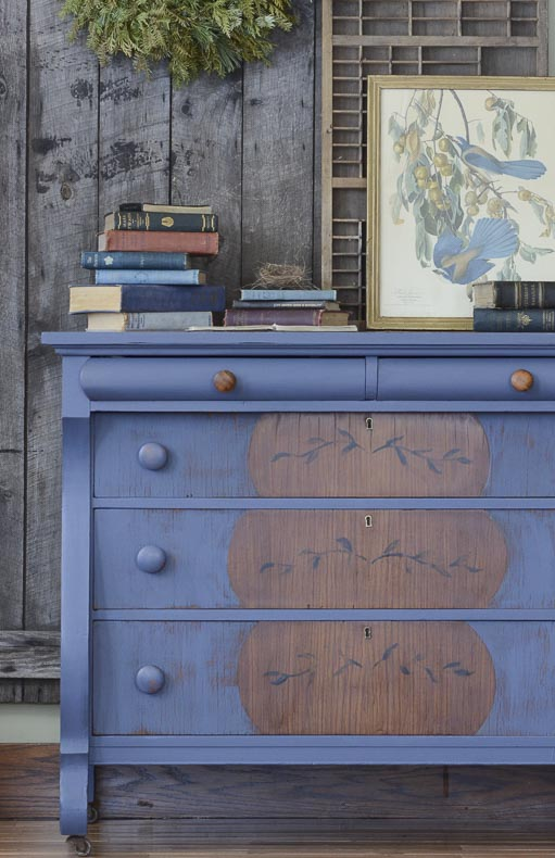 Dresser Fjord Blue Chalk Style Paint Mixed With Lamp Black