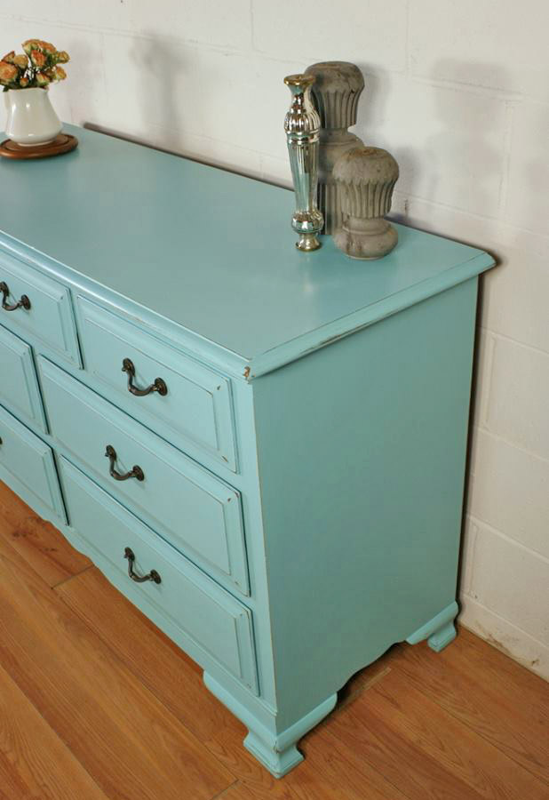 Dresser In Custom Mixed Blue Milk Paint Color General