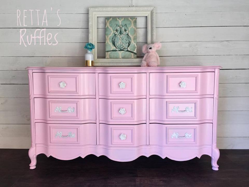 French Provincial Dresser In Pretty Pink General