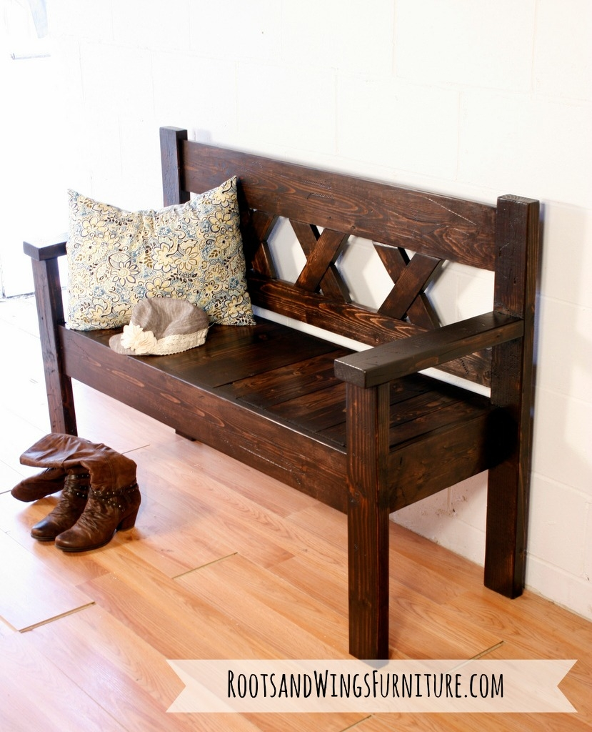 Rustic Entry Bench General Finishes Design Center