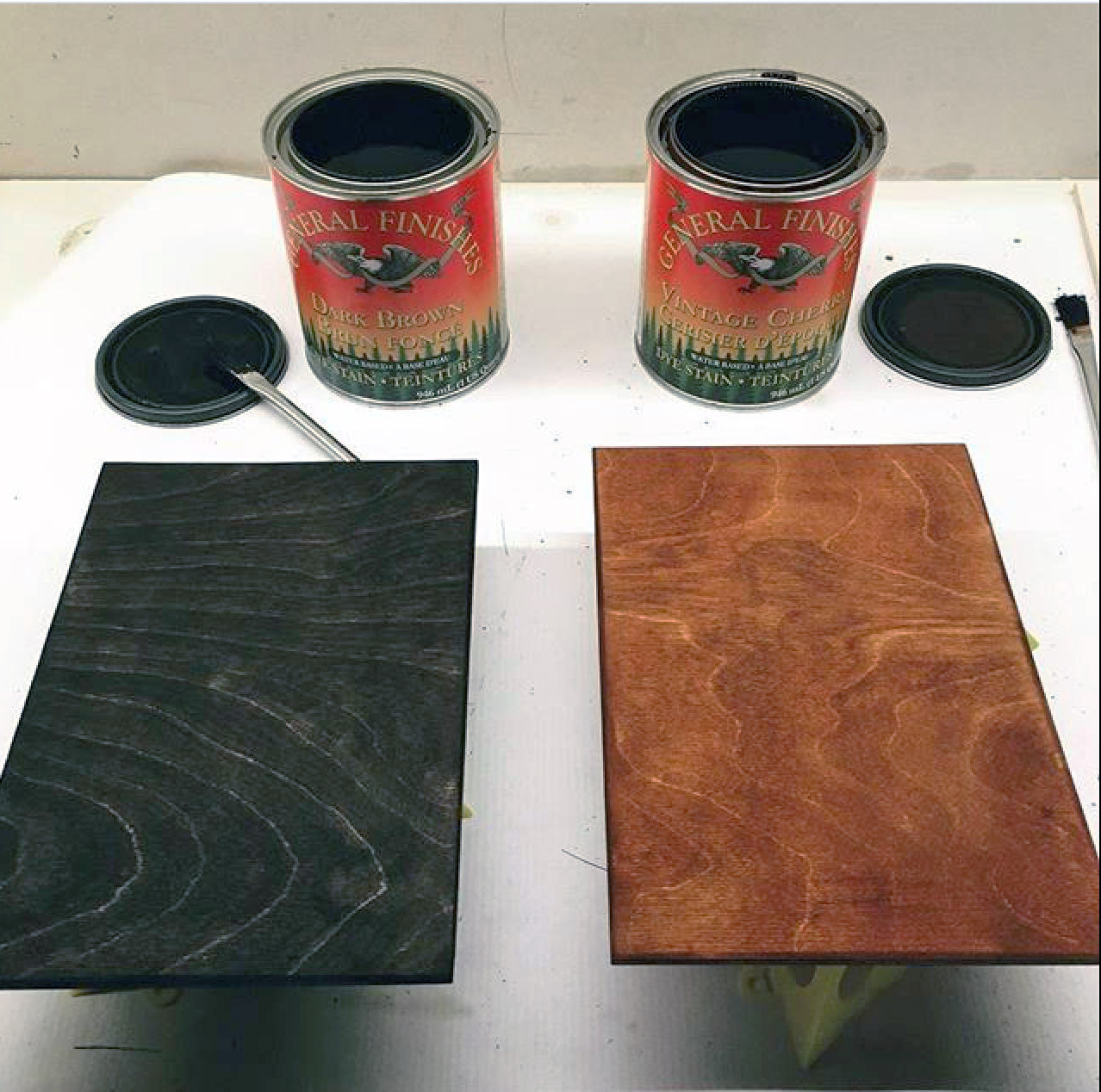 Dark Brown And Vintage Cherry Dye Stain General Finishes