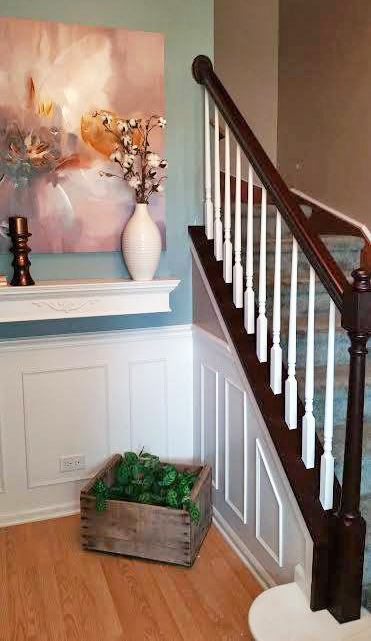 Brown Mahogany Stair Railing General Finishes Design Center