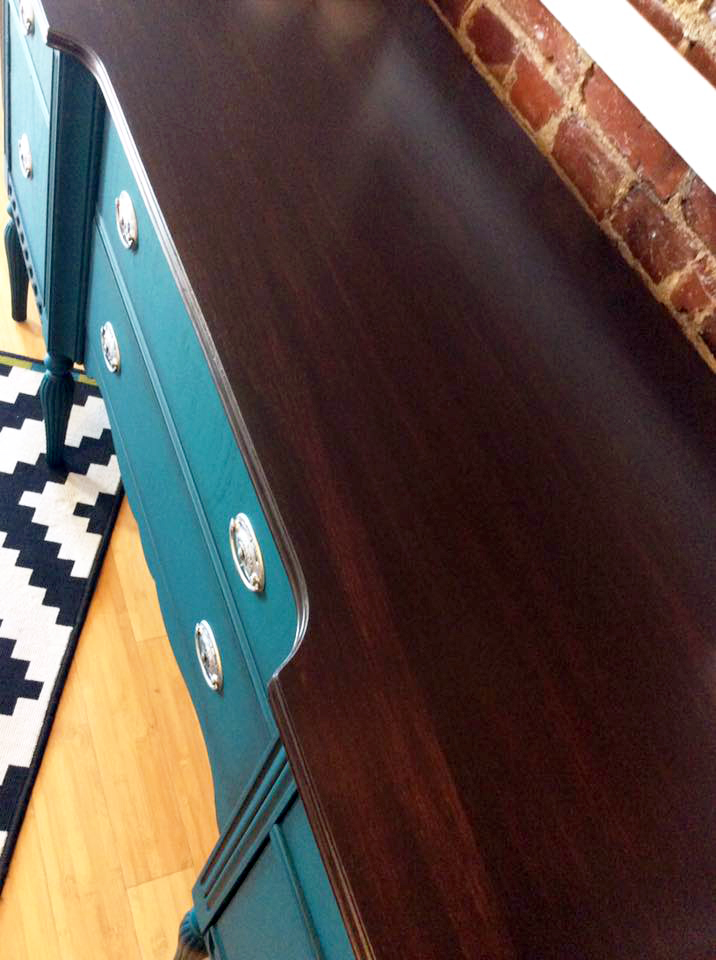 Custom Gel Stain Mix Of Java And Brown Mahogany General