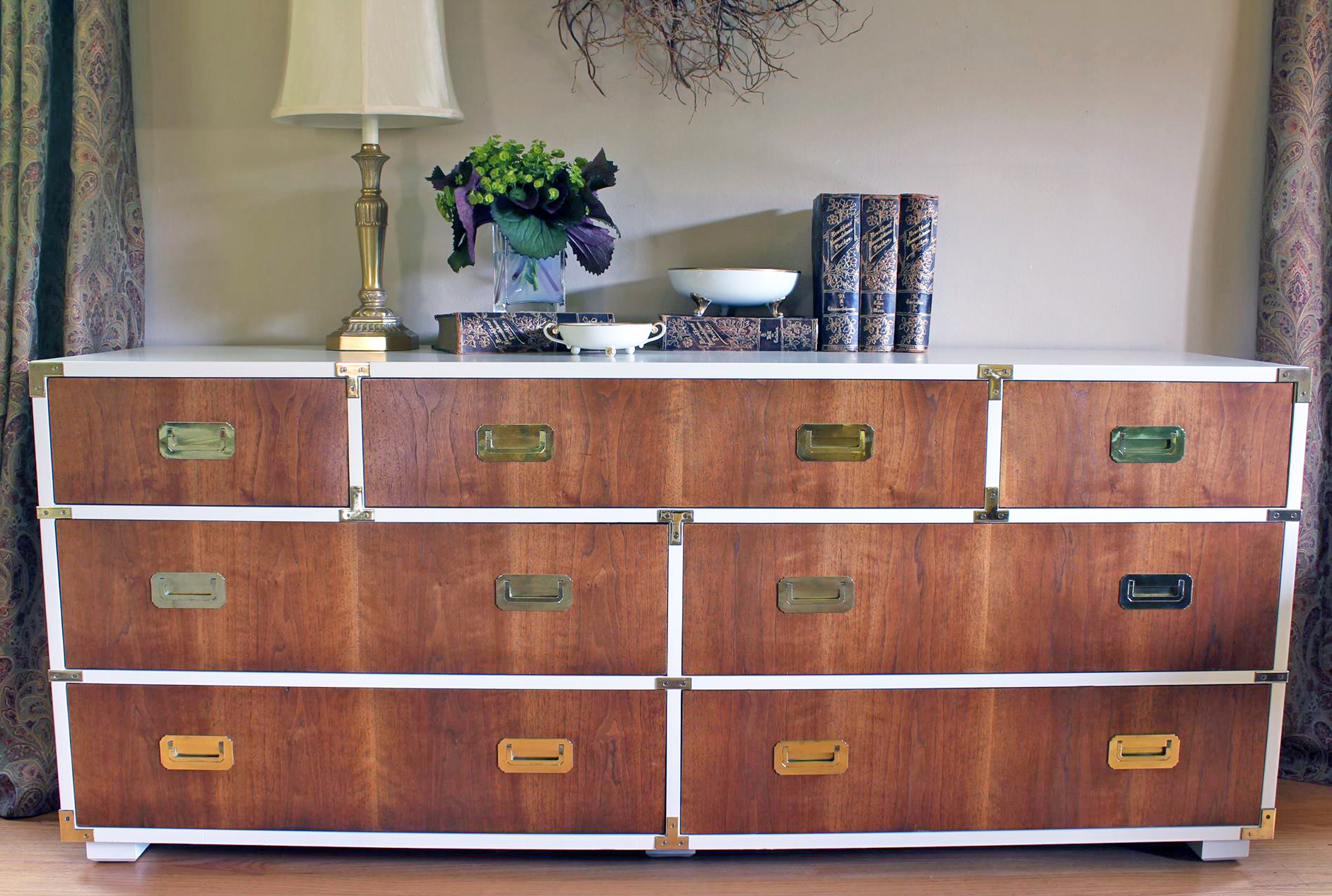 Antique Walnut Gel Stained Dresser General Finishes