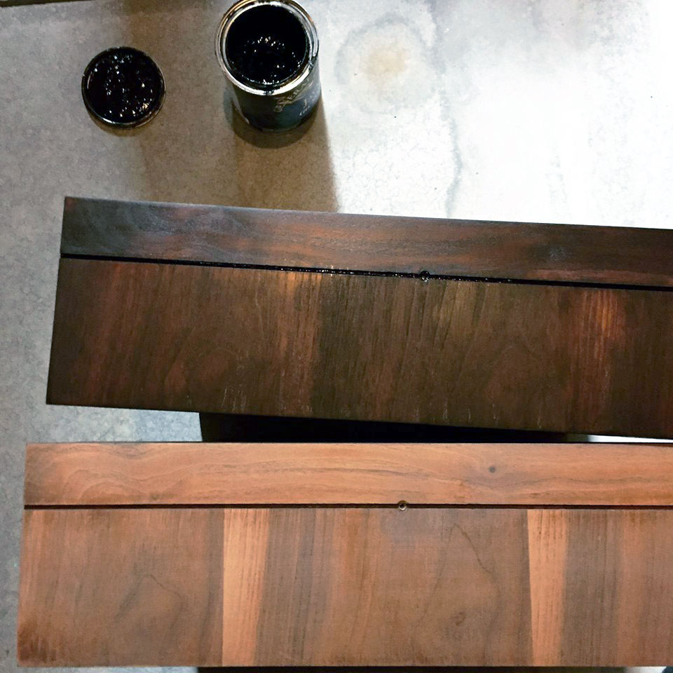 First coat of java gel stain general finishes design center for Gel stain