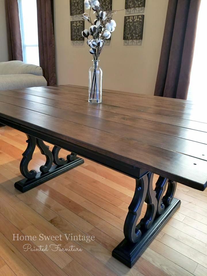 Black Pepper and Antique Walnut Dining Table | General Finishes Design Center & Black Pepper and Antique Walnut Dining Table | General Finishes ...