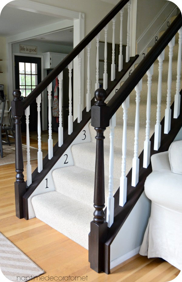 Banister Restyle In Java Gel Stain General Finishes