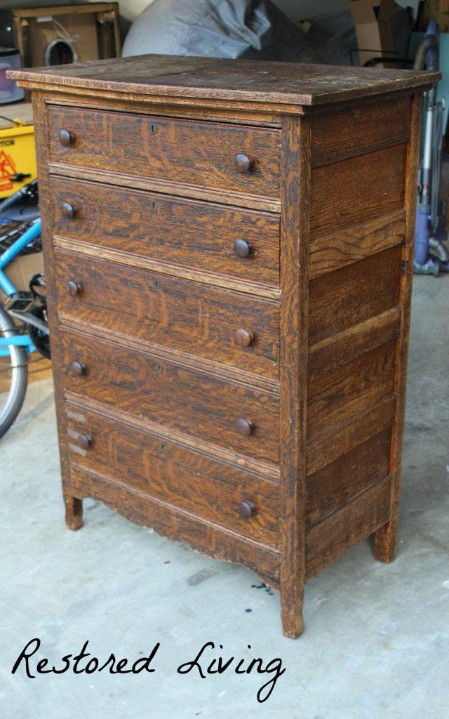 Antique Tiger Oak Dresser In Java General Finishes