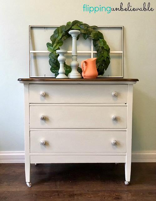 Stylish Dresser in Antique Walnut Gel Stain   General ...