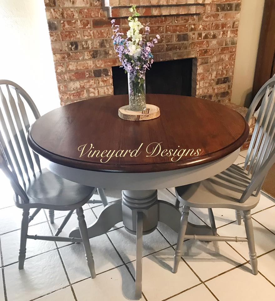 Table Top Refinished with Java Gel Stain   General Finishes Design ...