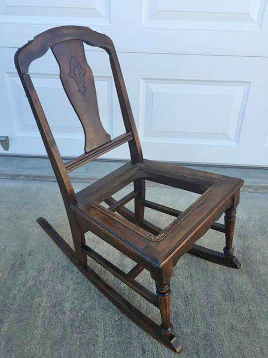 Rocking Chair In American Oak Gel Stain General Finishes