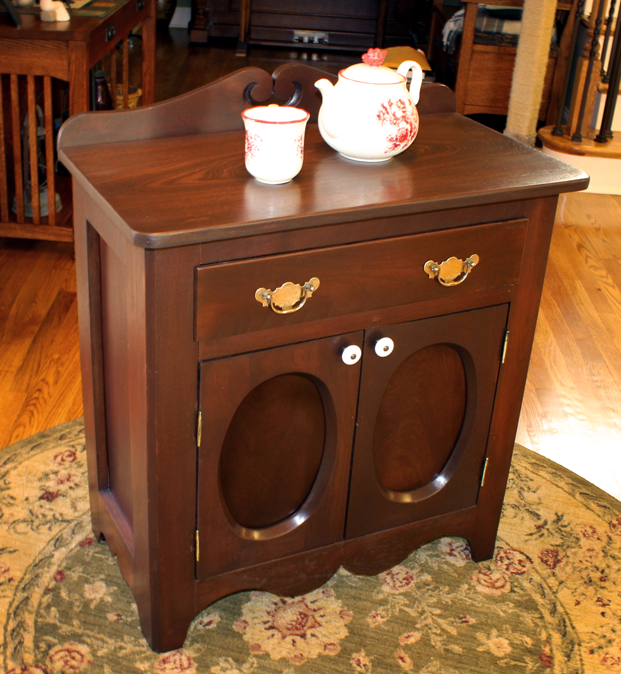 General Finishes Gel Stain Pint Or Furniture Oil Topcoat: Antique Brown Mahogany Washstand Restoration