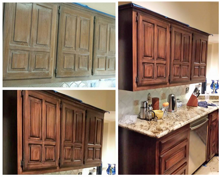 Java Gel Stain Kitchen Transformation | General Finishes ...