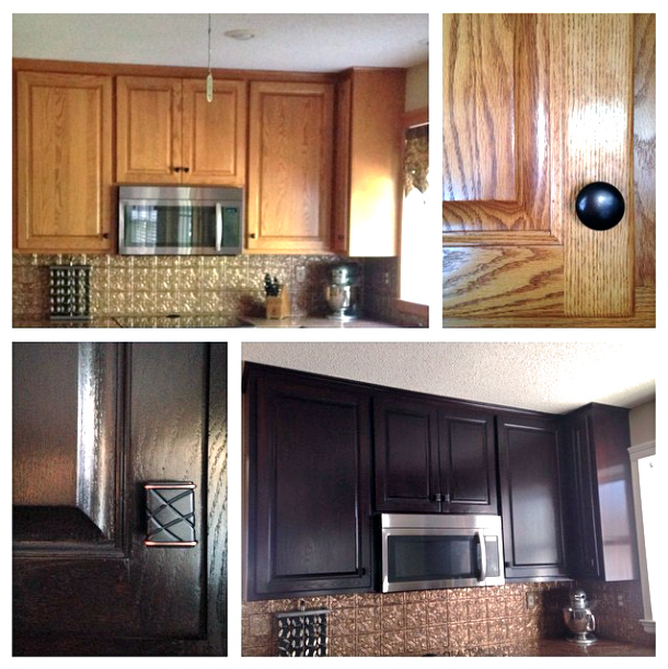 Kitchen Cabinet Stain Ideas: Cabinet Transformation With Java Gel Stain
