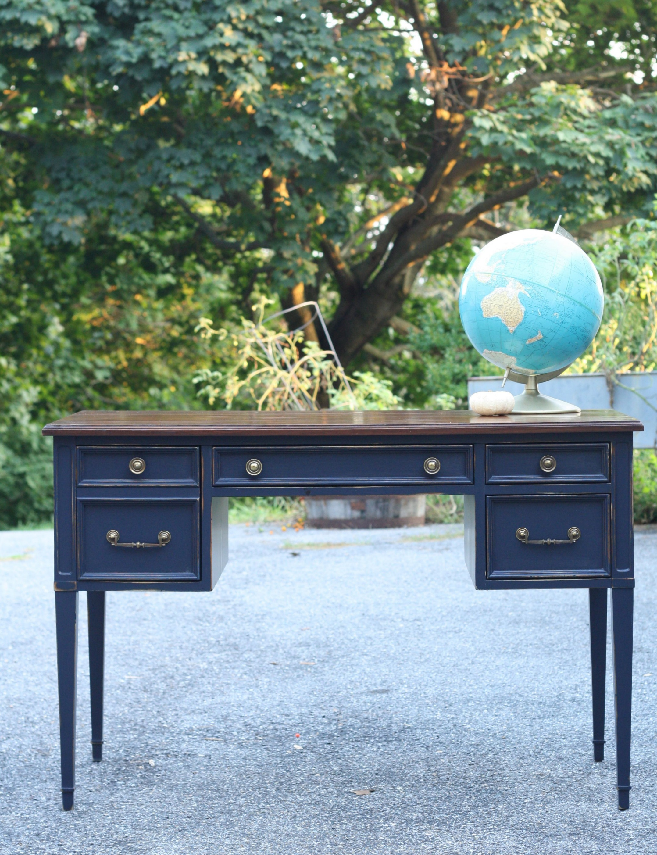 navy blue desk. Navy Blue Desk