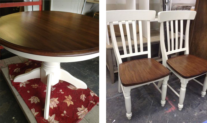 How To Stain A Dining Room Table And Chairs