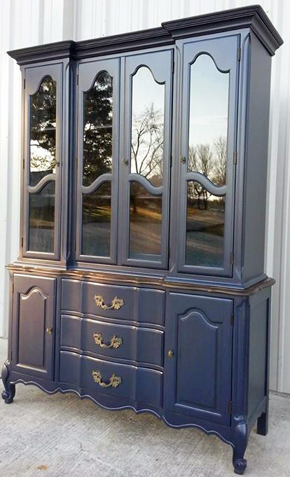Coastal Blue China Cabinet General Finishes Design Center