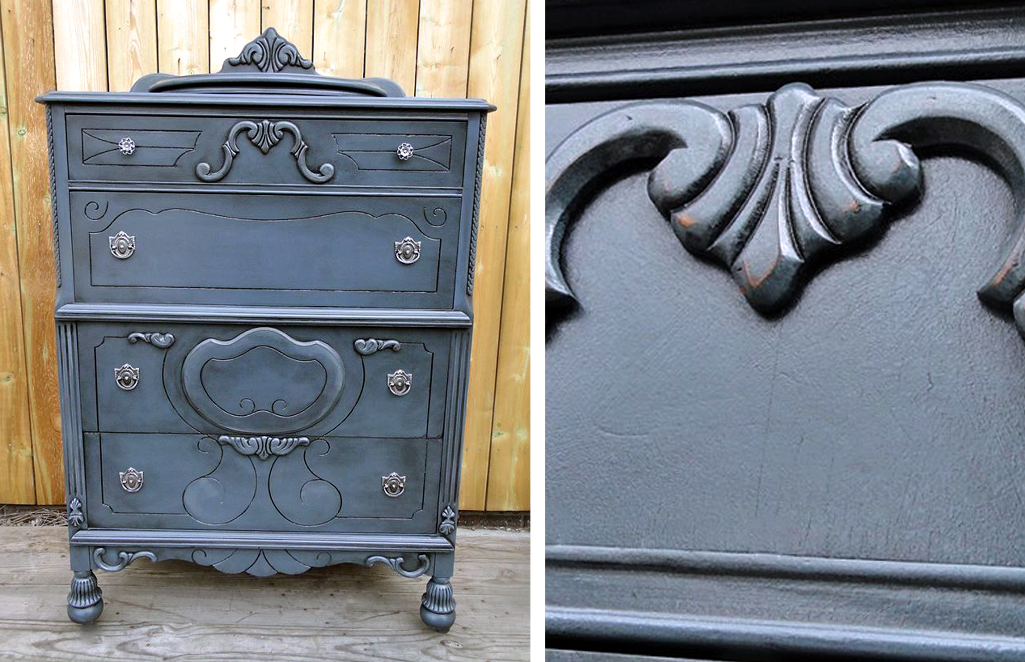 Stunning Quot Stormy Quot Dresser Restyle General Finishes