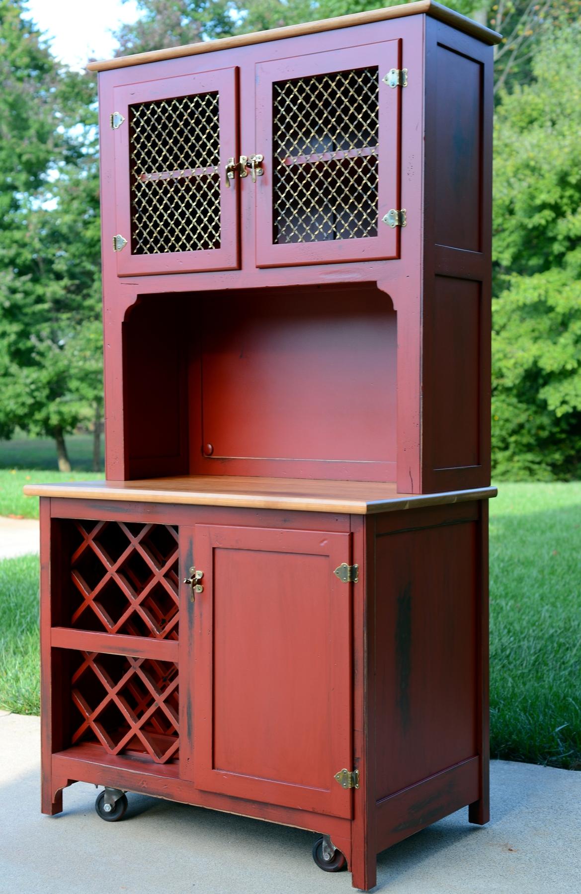 Hutch Brick Red Milk Paint General Finishes Design Center