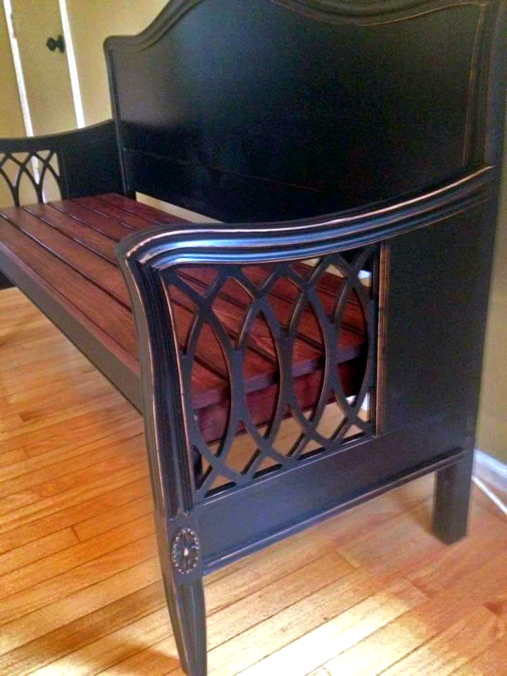 Lovely Lamp Black And Georgian Cherry Bench General