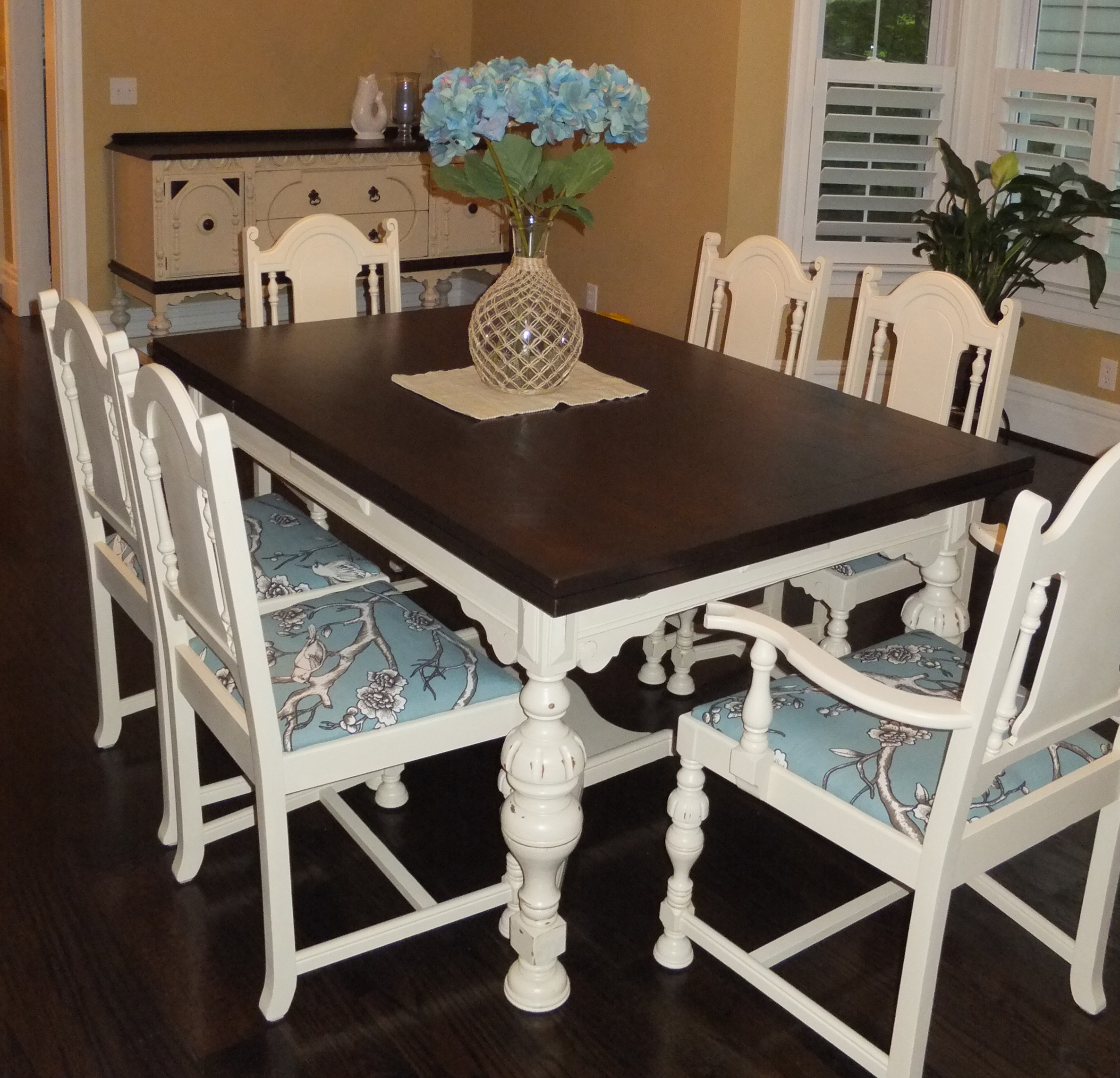 Refinished Dining Room Tables: Dining Room Table And Chair Set In Java Gel Stain And