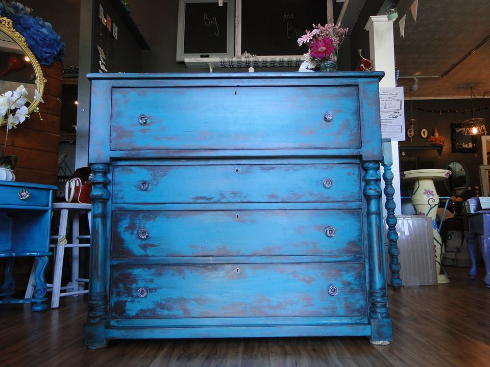 Klein Blue Patina And Java Dresser General Finishes