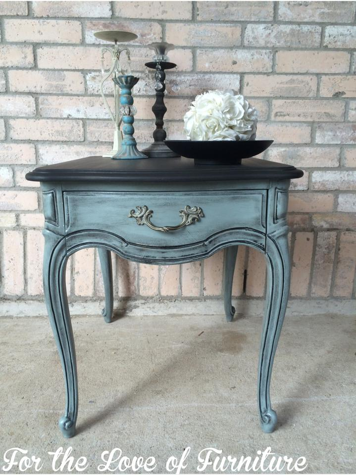 Beautiful Blue Side Table General Finishes Design Center