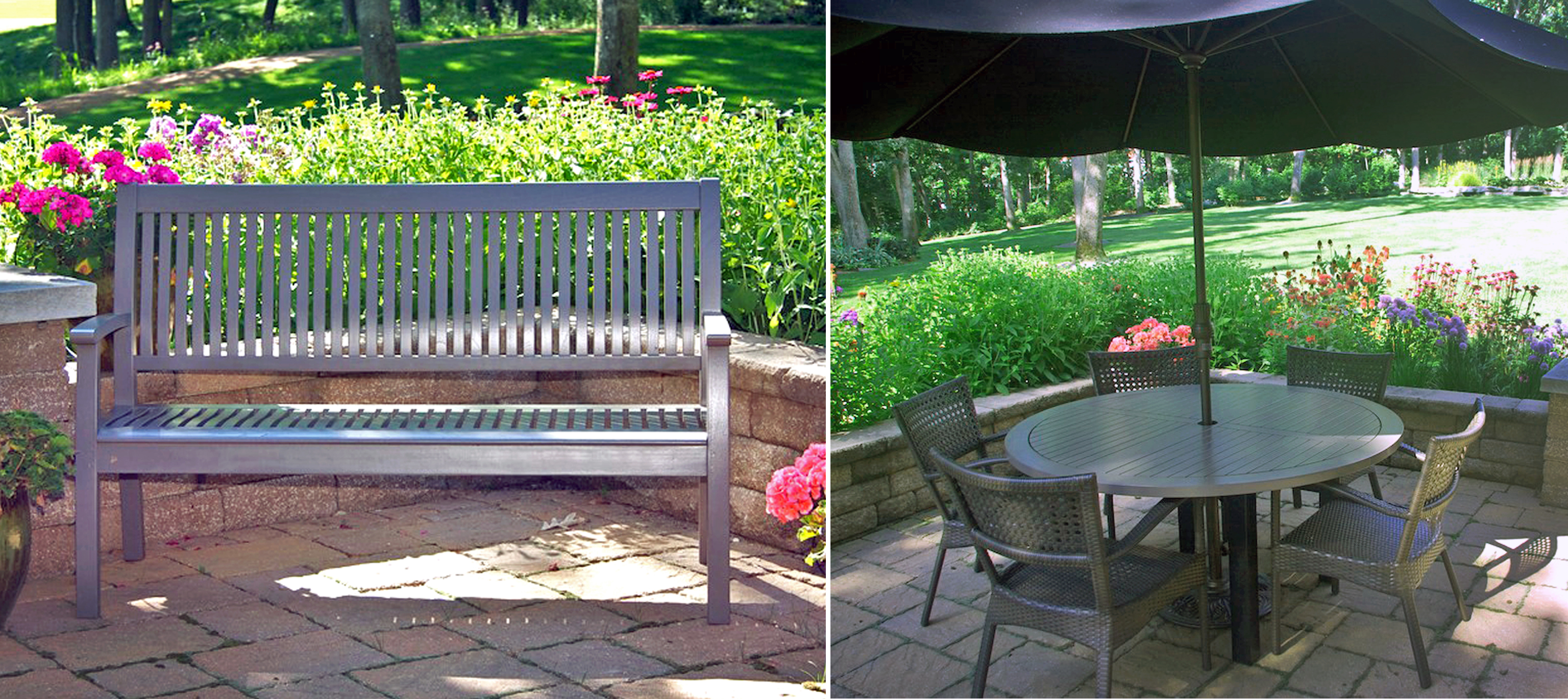 Custom Gray Outdoor Patio Set | General Finishes Design Center