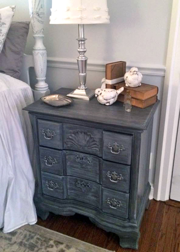 Gorgeous Glazed Gray Nightstand General Finishes Design