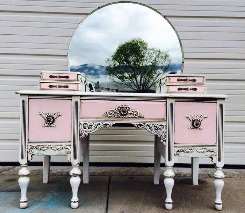 - Lovely Pink And White Antique Vanity General Finishes Design Center