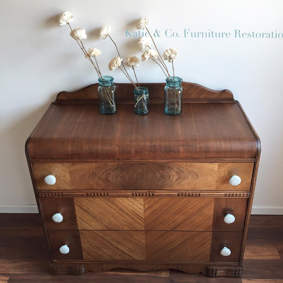 Antique Walnut Gel Stained Dresser General Finishes