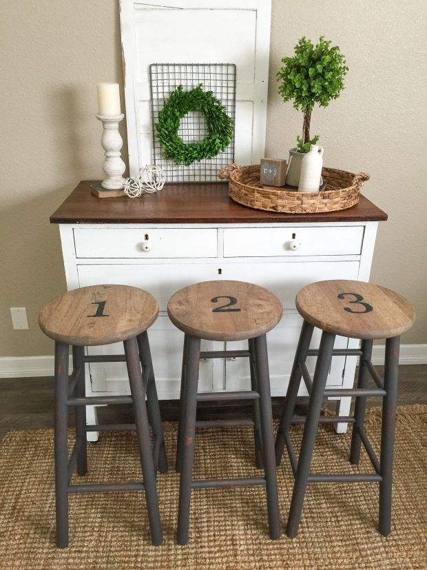 Queenstown Gray Farmhouse Stools General Finishes Design