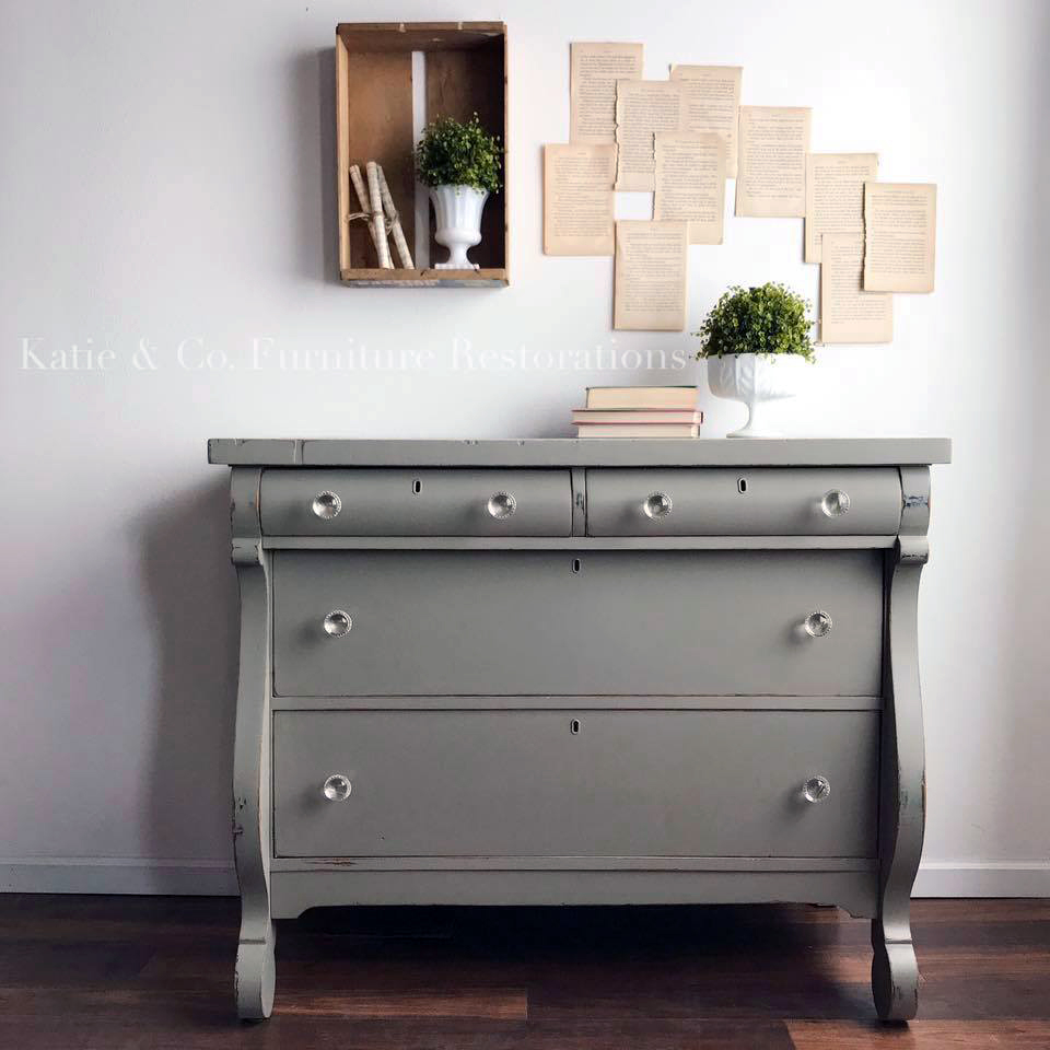 Empire Gray Chalk Style Paint Dresser General Finishes