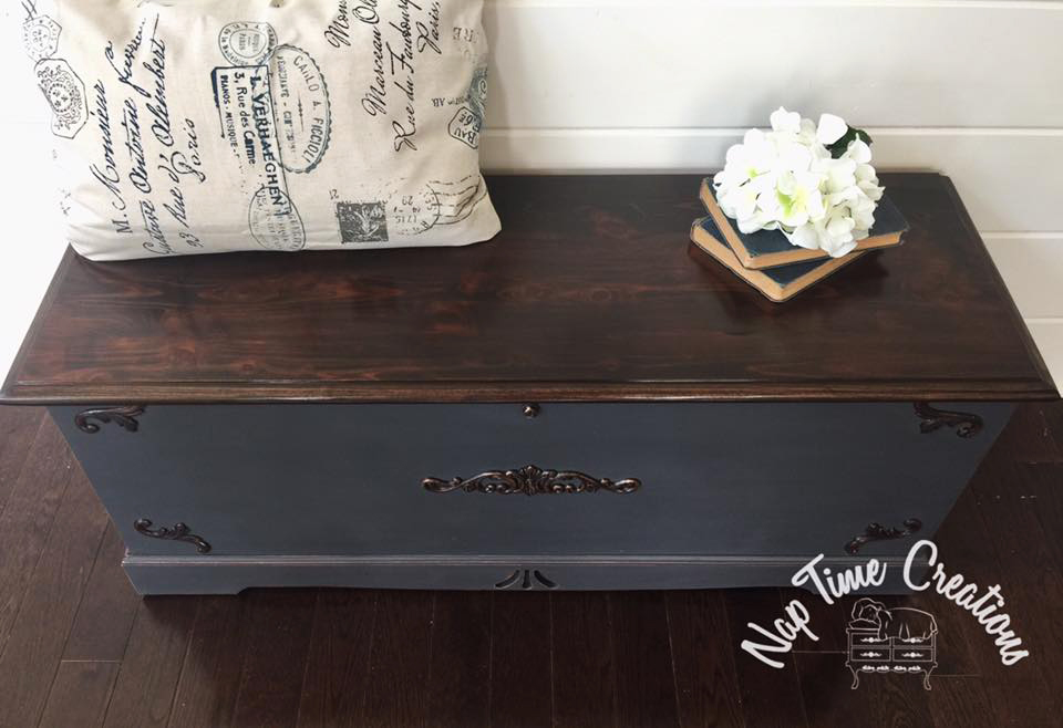 Queenstown Gray And Java Gel Cedar Chest General
