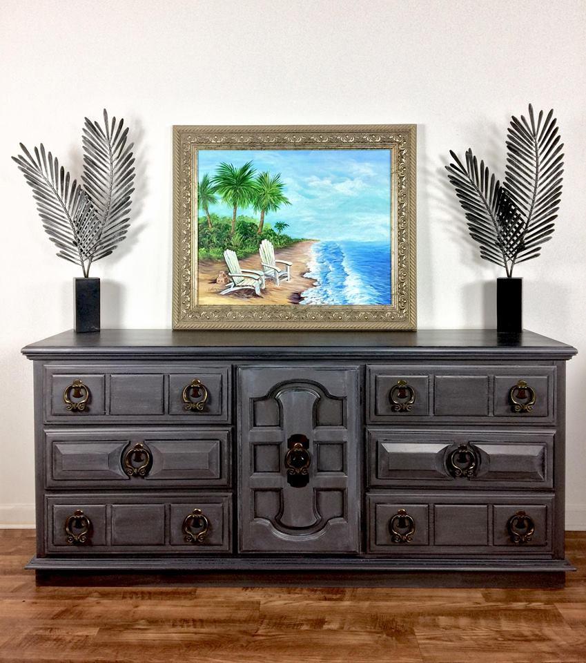 Glazed driftwood dresser general finishes design center