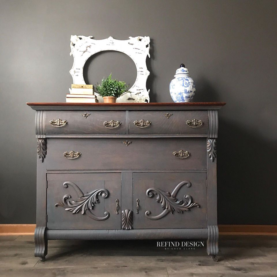 Queenstown Gray Antique Buffet General Finishes Design