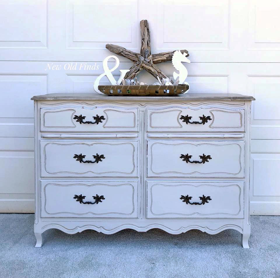 Seagull Gray Distressed Dresser General Finishes Design