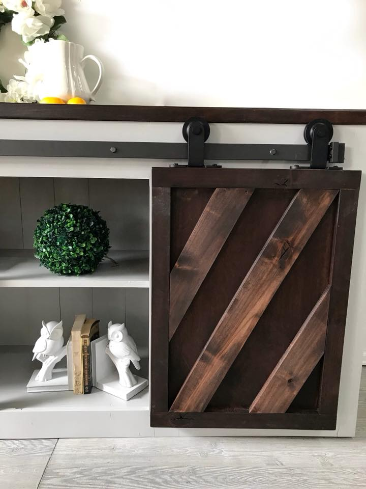 Stained And Painted Console Table