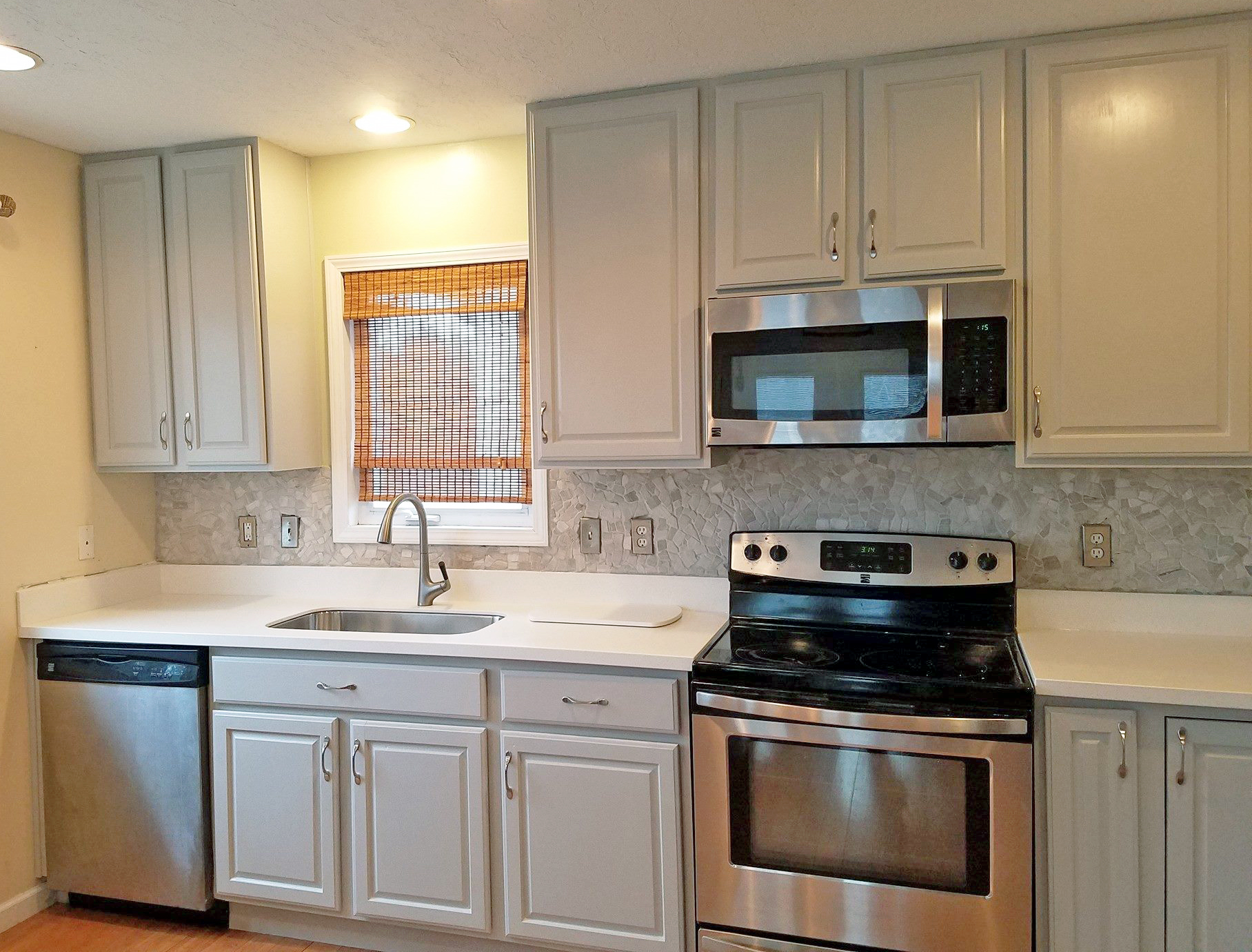 Seagull Gray Kitchen Cabinet Makeover
