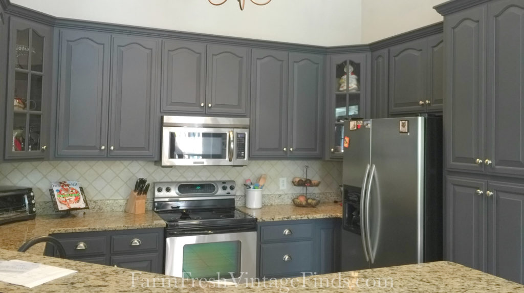 Queenstown Gray Milk Paint Kitchen Cabinets