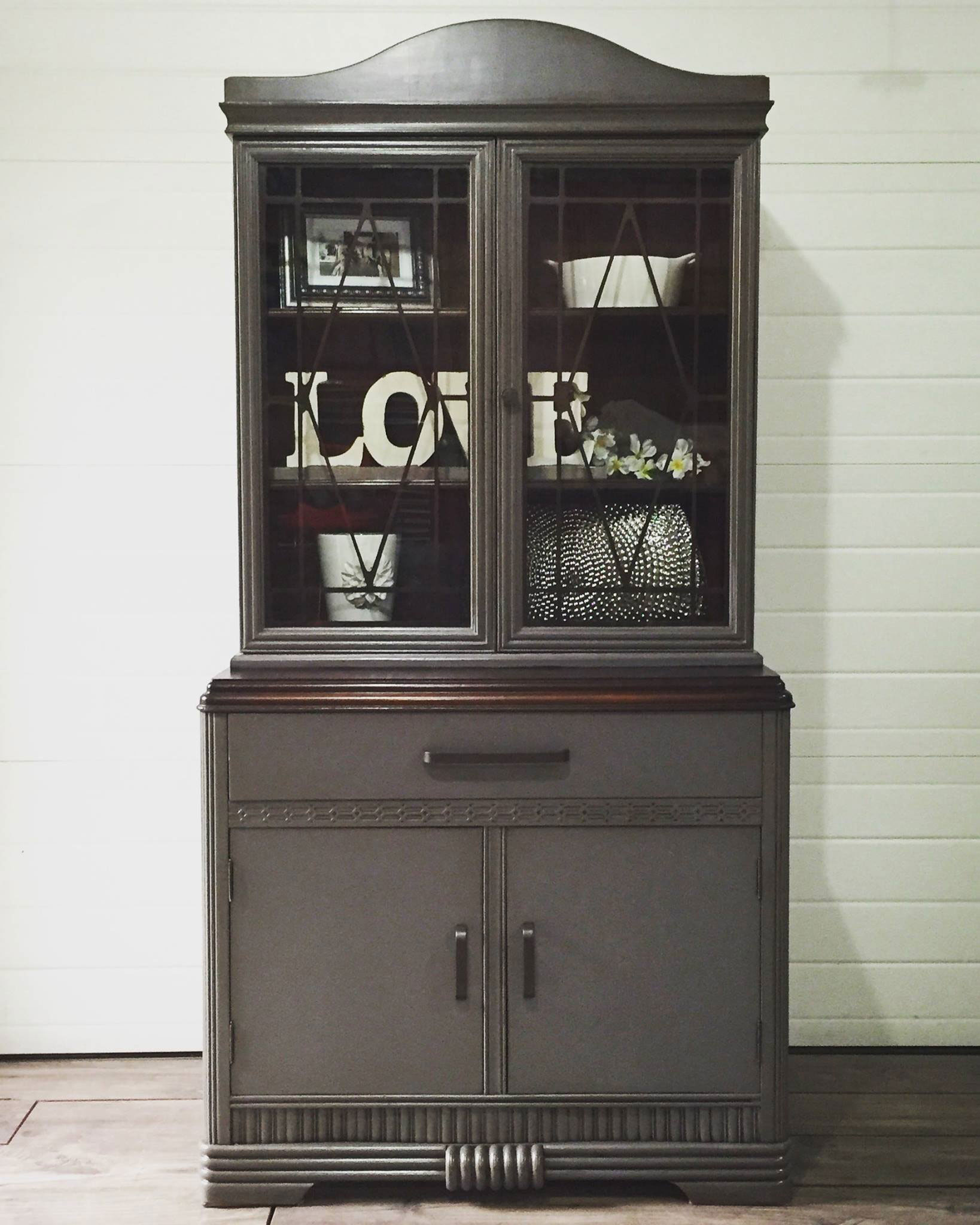 grey china cabinet china cabinet in queenstown gray general finishes design 16083