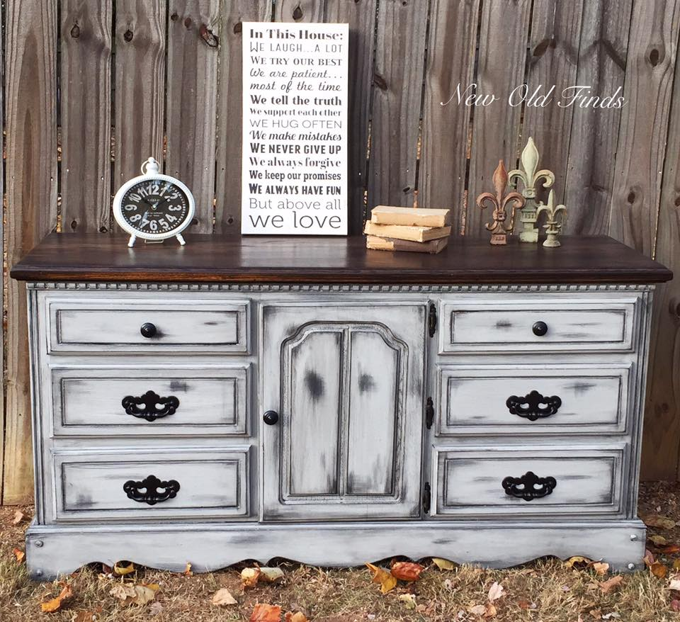 Farmhouse style dresser general finishes design center Best color to paint dresser